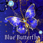 beautiful wallpaper blue butterfly theme